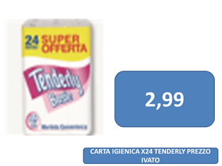 carta igienica tenderly a 2,99 €