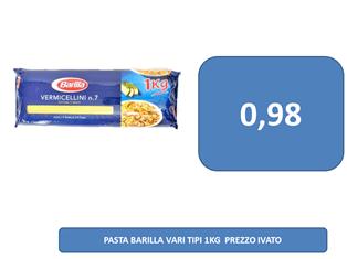 pasta barilla a 0,98 €