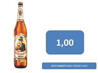 birra moretti a 1 €