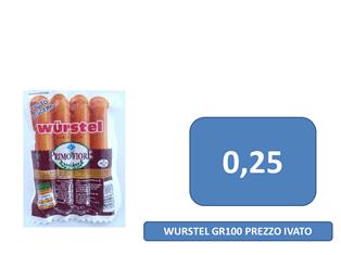 wurstel a 0,25 €