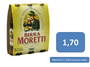 birra moretti a 1,70 €