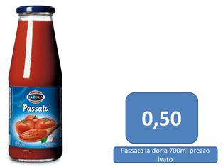 passata di pomodoro a 0,50 €