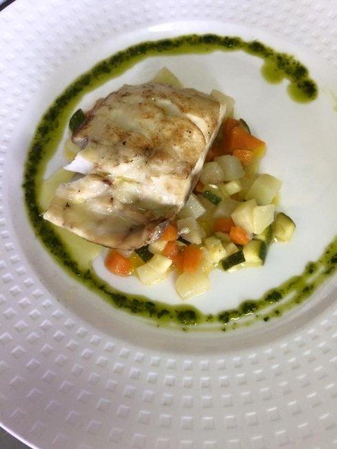 trancio di spigola, pesce dell'adriatico