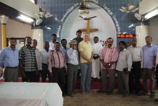 The author visiting Chennai