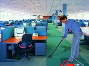 A LADY OFFICE CLEANING
