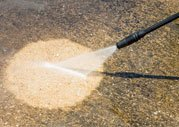 PRESSURE CLEANING A CONCRETE FLOOR