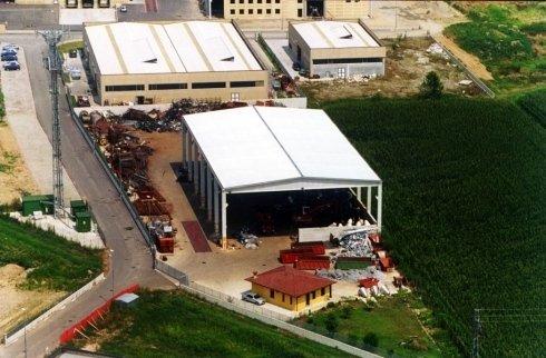 Vista aerea del nostro magazzino