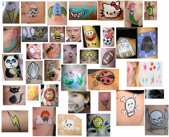Simple face painting for child's character party