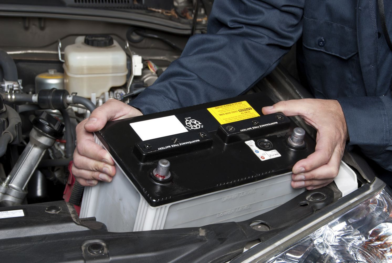 placing a car battery