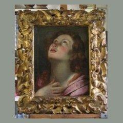 quadro con cornice dorata