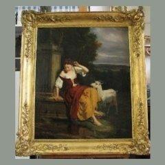 restauro dipinto cornice dorata