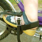 Body cycles support pedals heel