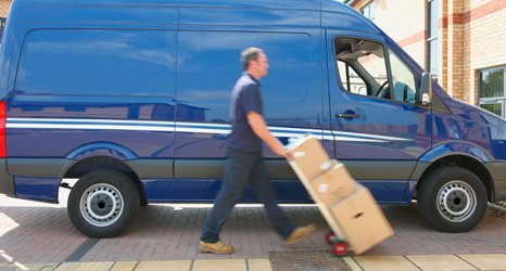 van carrying items for storage