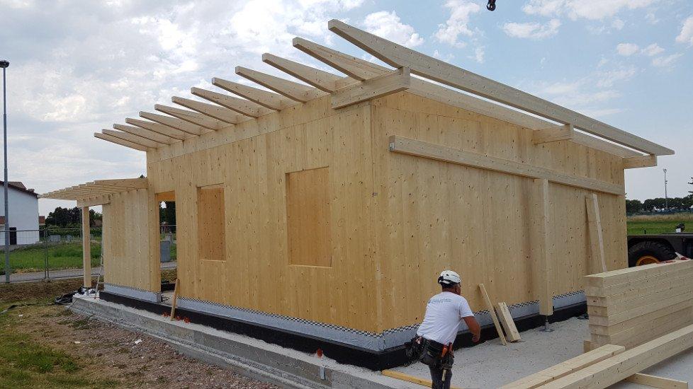 struttura di una casa in legno