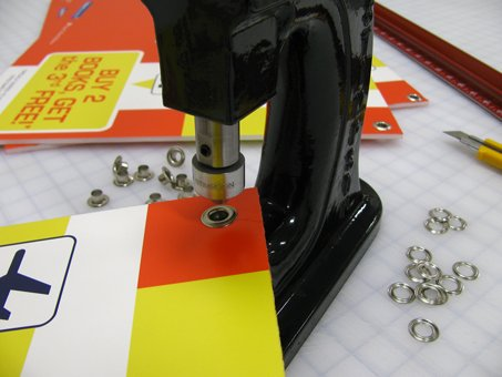 Grommet punch among many wide-format finishing options