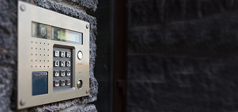 Alarm system installed by professional