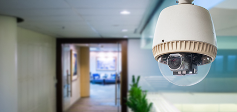 Security camera installed by experienced professional