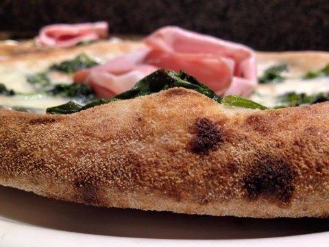 Pizza mozzarella - mortadella- spinaci