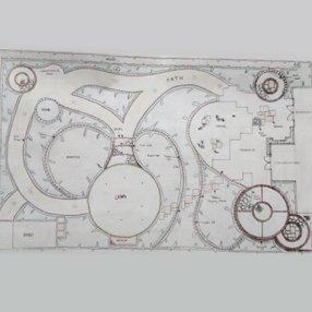 Hand-drawn plan