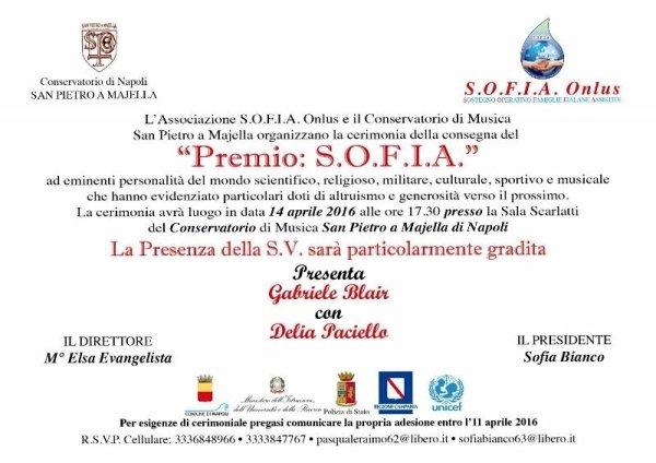 premio SOFIA