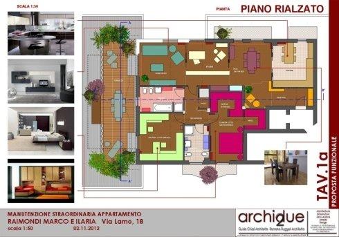 Progetto riqualificazione appartamento – Cremona – Pianta