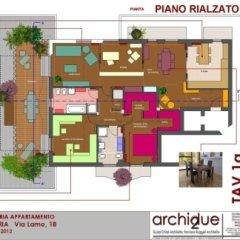 Progetto riqualificazione appartamento, Cremona, Pianta