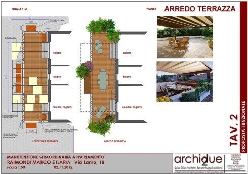 Progetto riqualificazione appartamento – Cremona – Particolare terrazza