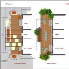 Progetto riqualificazione appartamento, Cremona, Particolare terrazza