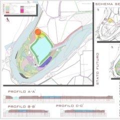 Progetto recupero ambientale ex-cava, Formigara( CR), Planimetria
