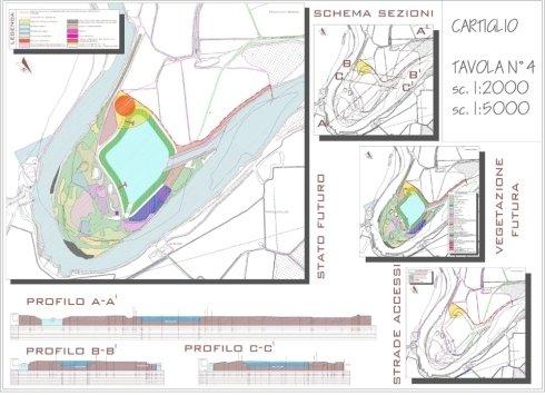 Progetto recupero ambientale ex-cava – Formigara( CR) – Planimetria