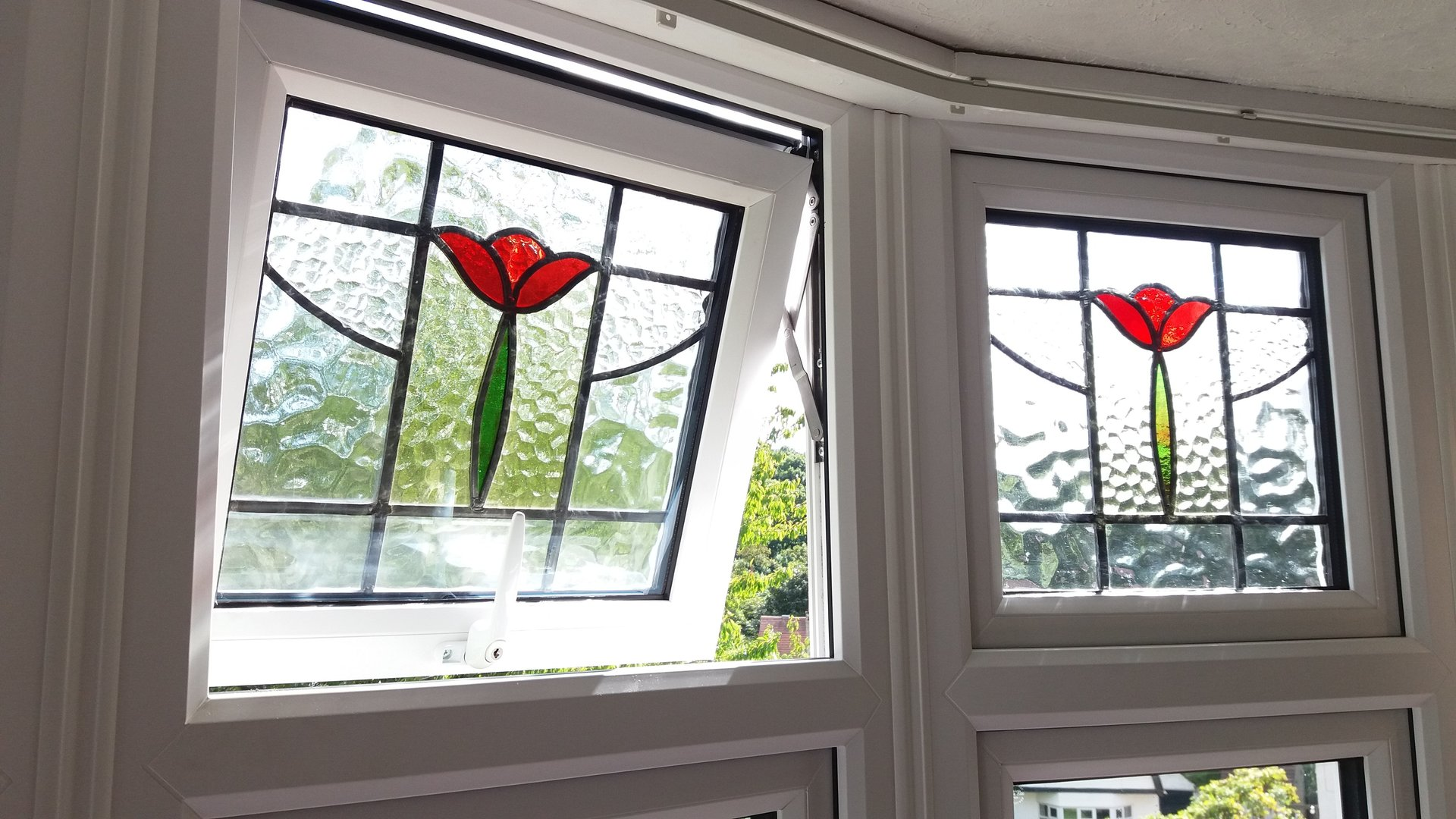 Stained glass encapsulation specialists in leeds - Eco friendly large glass windows offering effective energy savings for contemporary residence ...