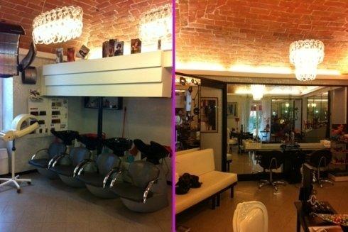 Il salone offre un ambiente accogliente e luminoso.