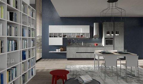 living con cucina moderna