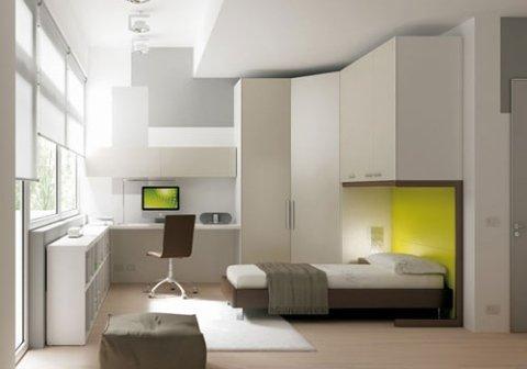 camera da letto con angolo studio