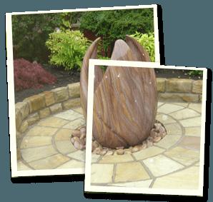 Feature garden - Littleborough, Sowerby Bridge, Todmorden - Avonleigh Homes & Gardens - garden ornament