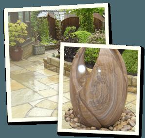 Garden design - Saddleworth, Diggle, Delph - Avonleigh Homes & Gardens - ornament closeup
