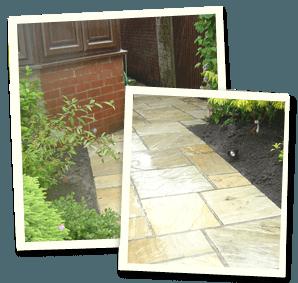 Garden landscaping - Saddleworth, Diggle, Delph - Avonleigh Homes & Gardens - concrete walkway