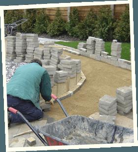 Bespoke garden - Rochdale, Shaw, Huddersfield - Avonleigh Homes & Gardens - block setting