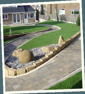 Dry stonework - Royton, Ashton-under-Lyne, Marsden - Avonleigh Homes & Gardens - garden pavement