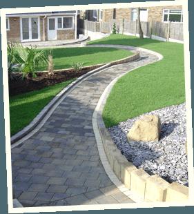 Garden ideas - Rochdale, Shaw, Huddersfield - Avonleigh Homes & Gardens - concrete walkway