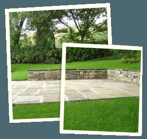 Feature garden - Littleborough, Sowerby Bridge, Todmorden - Avonleigh Homes & Gardens - pavement