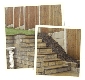 Garden landscaping - Saddleworth, Diggle, Delph - Avonleigh Homes & Gardens - concrete steps