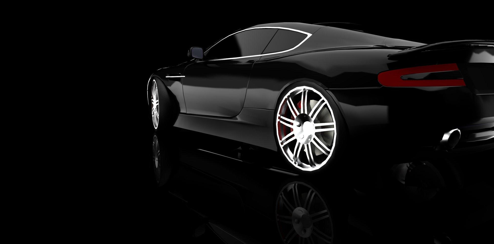 macchina nera lucida