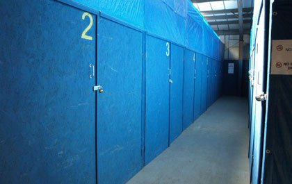 Indoor secure self and storage