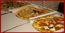 tre pizze da asporto