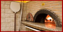 forno a legna in pizzeria