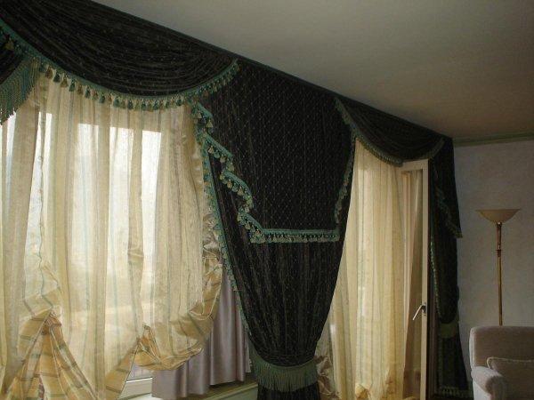 Tende da arredo perfect tenda calata in stile classico con base in seta e disegno damasco with - Tende da arredo interno ...