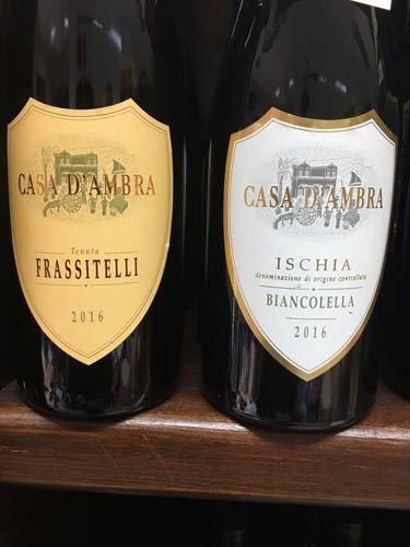 bottiglie di vino CASA d`ambra
