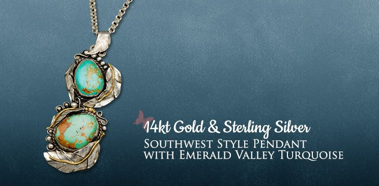 Southwest Style Pendant with Emerald Valley Turquoise