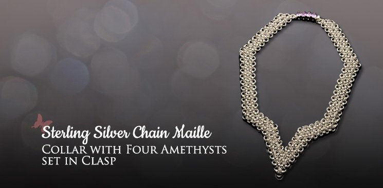 Collar with Four Amethysts set in clasp